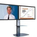 Standfuß AVLP Twin für zwei Bildschirme