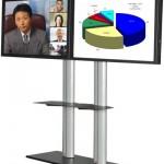 Walldisplay für 2 Bildschirme Videokonferenz