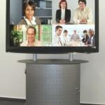 rollmedienwagen für Videokonferenz Kamera